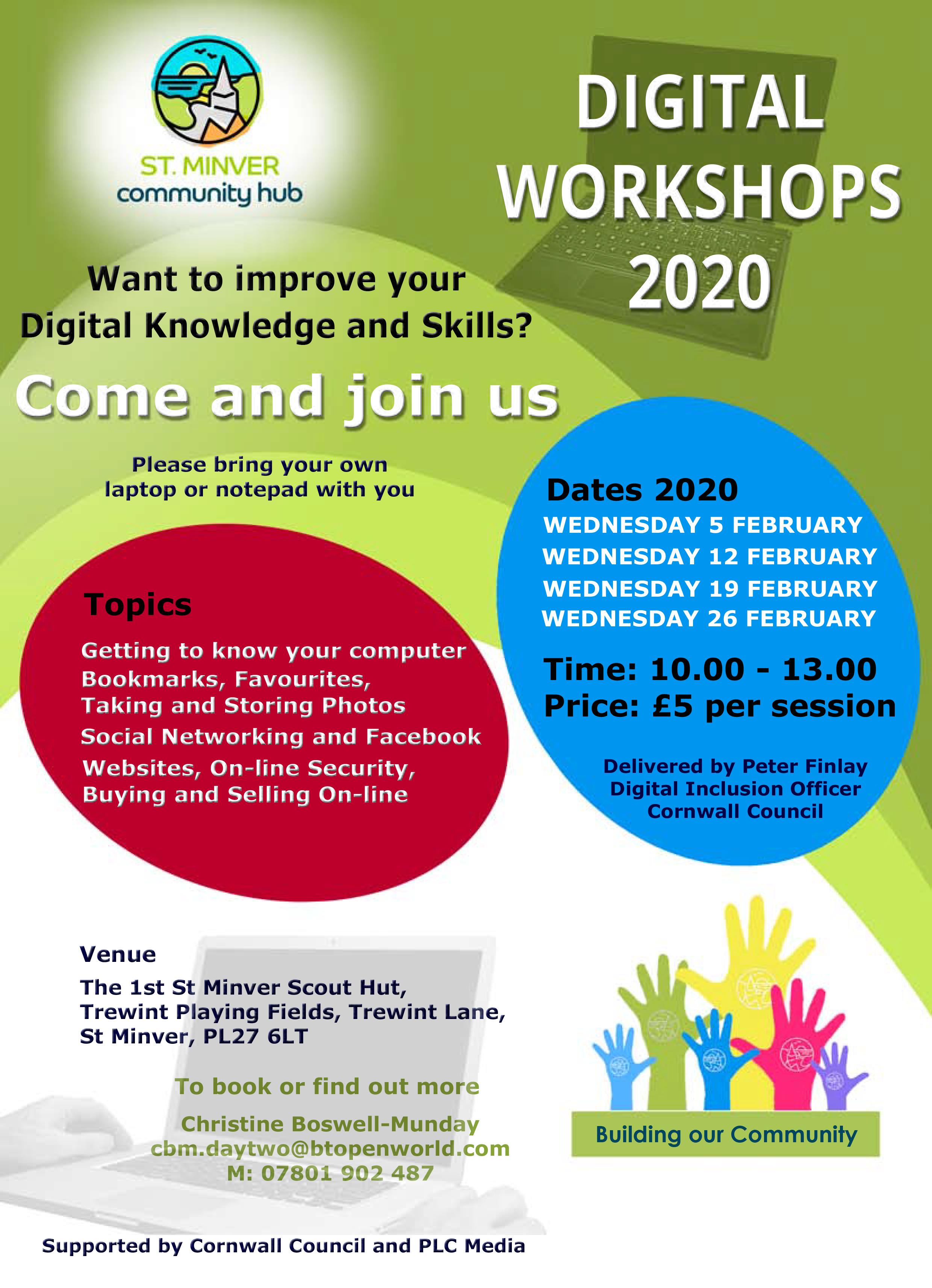 Digital Workshops – February 2020  Programme